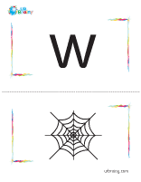 w-web flashcard
