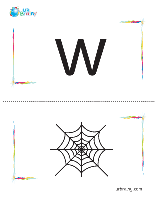 Preview of worksheet w-web flashcard