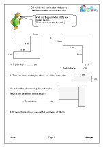 Calculate the perimeter of shapes