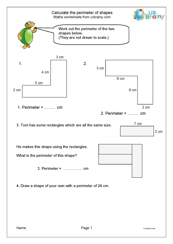 Preview of 'Calculate the perimeter of shapes'