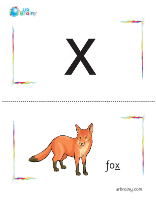 Preview of worksheet x-fox flashcard