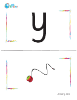 y-yoyo flashcard