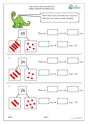 Place value: tens and ones (2)