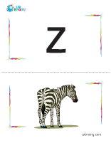z-zebra flashcard