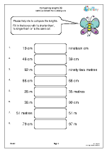 Comparing lengths (6)