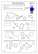 2D shapes: sorting into groups (1)