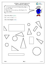 2D shapes: sorting into groups (2)