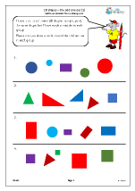 2D shapes: the odd one out (1)