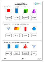 Naming 3D shapes