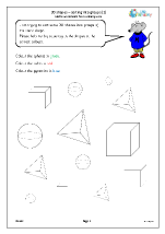 3D shape: sorting into groups (2)