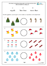 Christmas: comparing using the = <> signs (Y1)