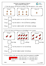 Christmas: ordering groups of objects (Y1)