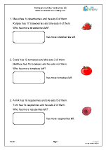 Compare number sentences (subtraction)