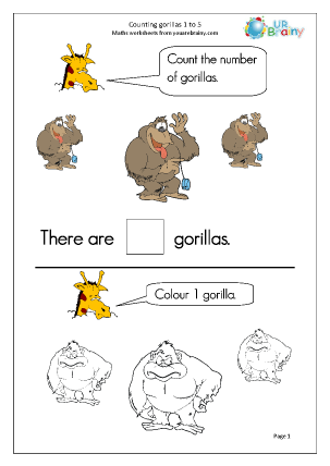Counting gorillas 1 to 5