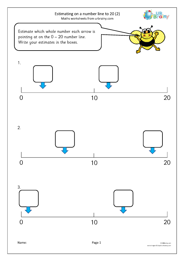 Preview of 'Estimating on a number line to 20 (2)'