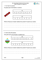 Bar modelling 4 times table (year 3)