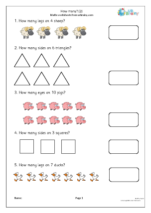 Preview of worksheet How many (2)