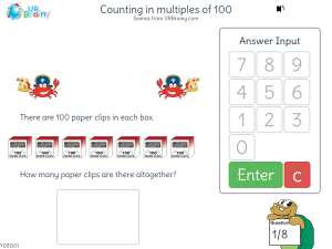 Preview of game Counting in multiples of 100