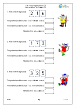 Add two 3-digit numbers (2)