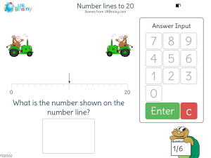 Preview of game Number lines to 20