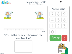 Preview of game Number lines to 100