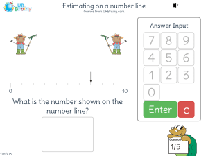 Preview of game Estimating on a number line