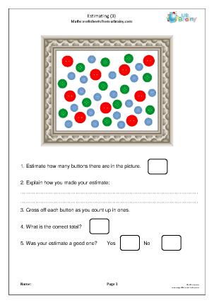 Preview of worksheet Estimating numbers (3)