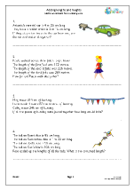 Adding lengths and heights