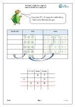 Multiply 2-digits by 1-digit using a place value table
