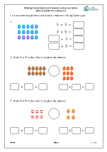 Making multiplication and division sentences: Easter