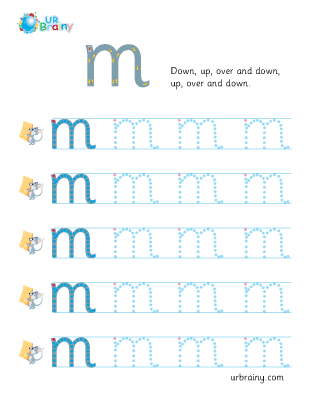 Preview of worksheet m handwriting