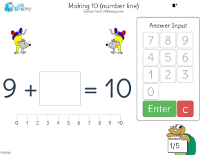 Preview of game Making 10 (number line)