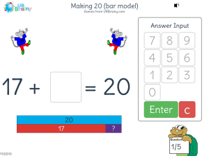 Preview of game Making 20 (bar model)