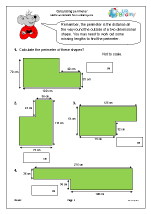 year  maths worksheets age  calculate the perimeter of shapes