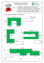 Calculate the perimeter of shapes (2)