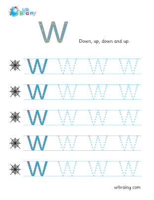 w handwriting english worksheet for key stage 1. Black Bedroom Furniture Sets. Home Design Ideas