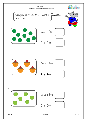 Preview of worksheet Doubles (3)