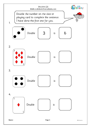 Preview of worksheet Doubles (2)
