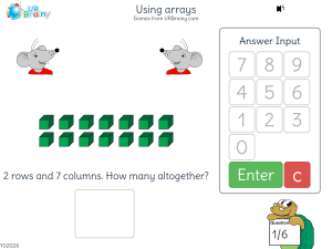 Preview of game Using arrays