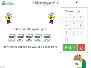 Adding groups of 10