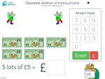 Repeated addition of money (notes)