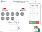 Repeated addition of coins
