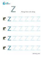 z handwriting english worksheet for key stage 1. Black Bedroom Furniture Sets. Home Design Ideas