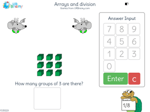 Preview of game Arrays and division