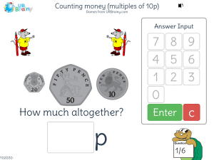 Preview of game Counting money (multiples of 10p)