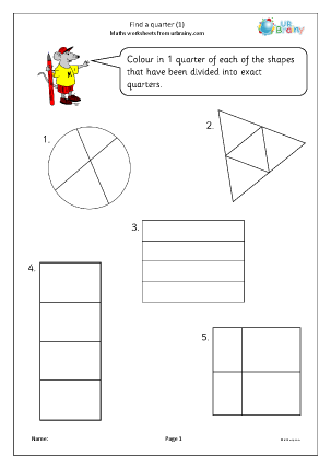 Preview of worksheet Find a quarter (1)