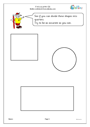 Preview of worksheet Find a quarter (3)