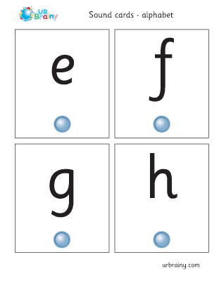 Preview of worksheet efgh sound cards