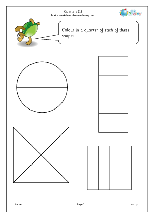 Preview of worksheet Quarters (1)