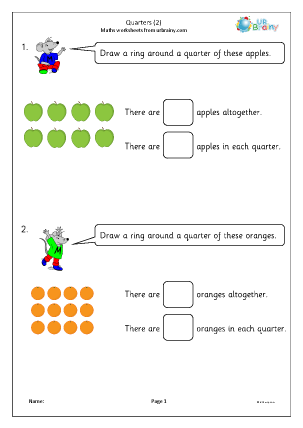 Preview of worksheet Quarters (2)